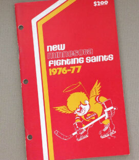 1976-77 Minnesota Fighting Saints Media Guide