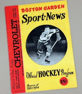 Boston Bruins 1953-1954 Hockey Program