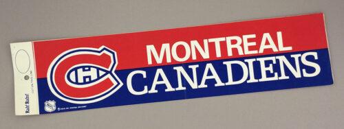1970's Montreal Canadiens Bumper Sticker