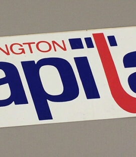 Washington Capitals 1974 Bumper Sticker