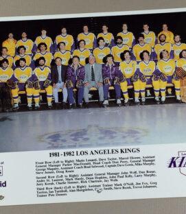 Los Angeles Kings 1981-1982 Team Photo
