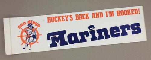 San Diego Mariners Bumper Sticker