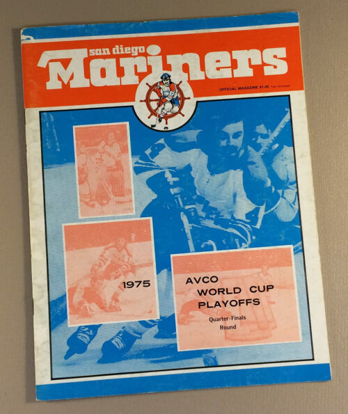 San Diego Mariners 1975 Playoff Game Program