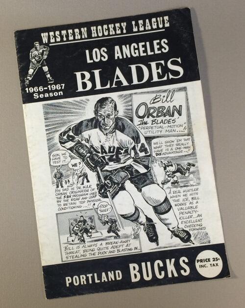 Los Angeles Blades 1966 Program