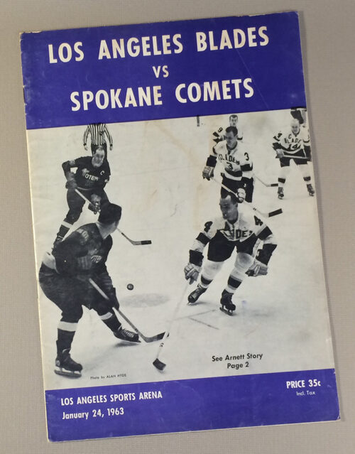 Los Angeles Blades 1963 Game Program