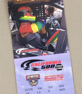 California Speedway 1988 California 500 Ticket Stub