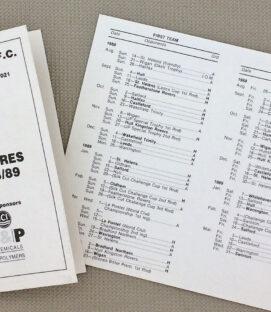 Widnes Vikings 1988-89 Rugby League Calendar