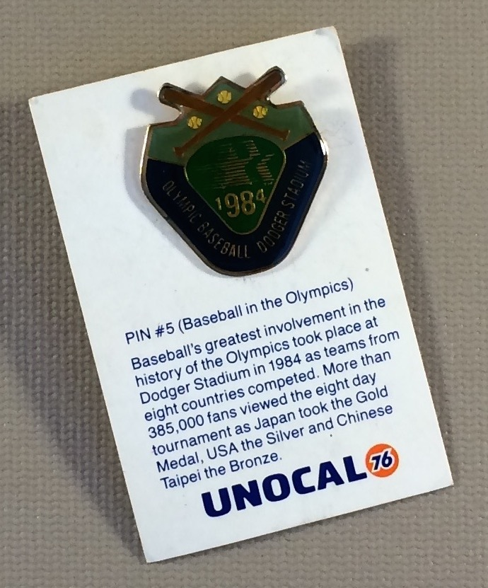 1984 Olympic Baseball at Dodger Stadium Commemorative Pin