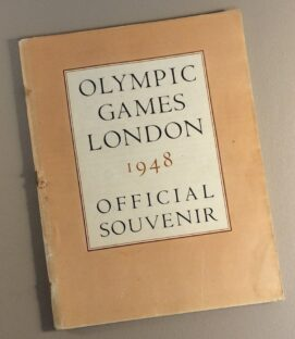 1948 London Olympics Game Program