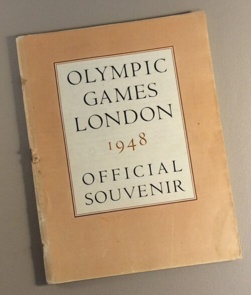 1948 London Olympics Game Program