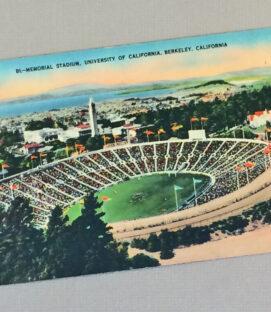 CAL Memorial Stadium Vintage Postcard