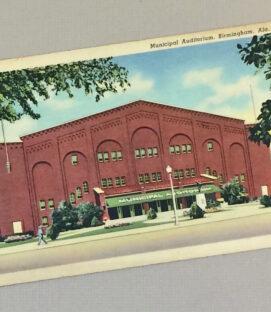 Birmingham Municipal Auditorium Vintage Postcard