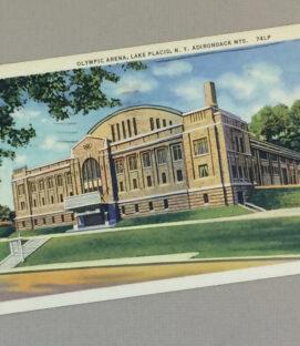 Lake Placid Olympic Arena Vintage Postcard