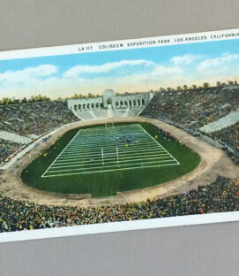 Los Angeles Coliseum Vintage Postcard