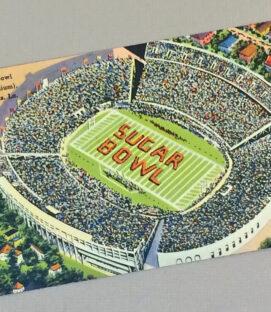 Tulane Stadium Vintage Postcard