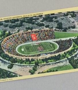 Stanford Stadium Vintage Postcard
