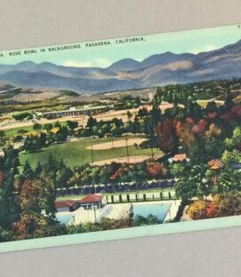 Vintage Rose Bowl Postcard