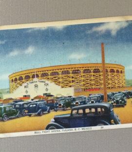 1939 Vintage Bullring Tijuana Postcard