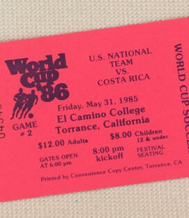 USA vs Costa Rica World Cup '86 Qualifier Ticket