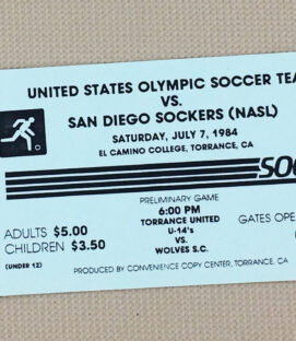 San Diego Sockers U.S. Olympic Team 1984 Ticket