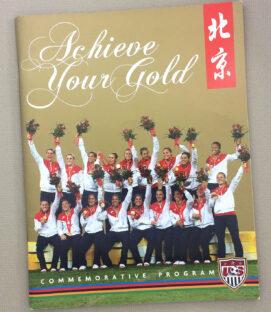 US Soccer WNT 2008 Gold Medal Book