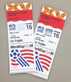 World Cup '94 Colombia USA Tickets