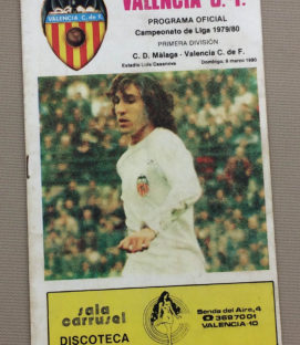 FC Valencia 1980 Match Program