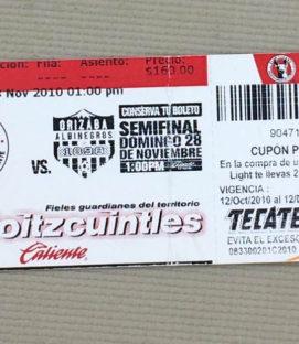 Tijuana Xolos 2010 Liga Ascenso Semifinals Ticket