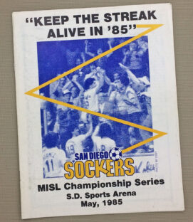 Sockers 1985 Championship Game Program
