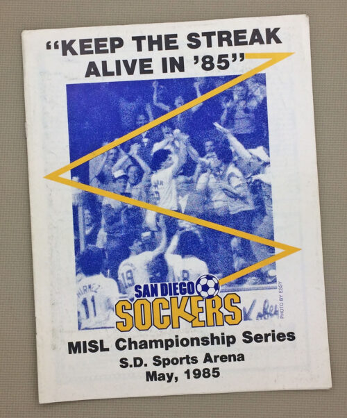 Sockers 1985 Championship Game Program