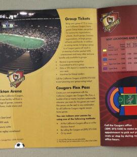 California Cougars Ticket Brochure