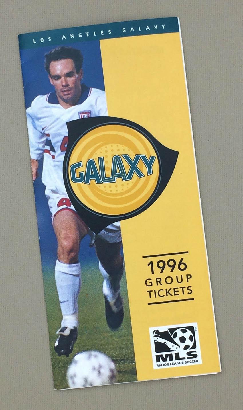 Los Angeles Galaxy 1996 Inaugural Group Ticket Brochure