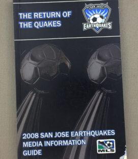 San Jose Earthquakes 2008 Media Guide