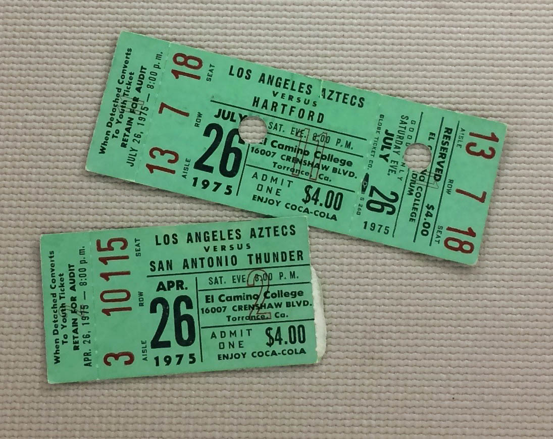 Los Angeles Aztecs 1975 Tickets