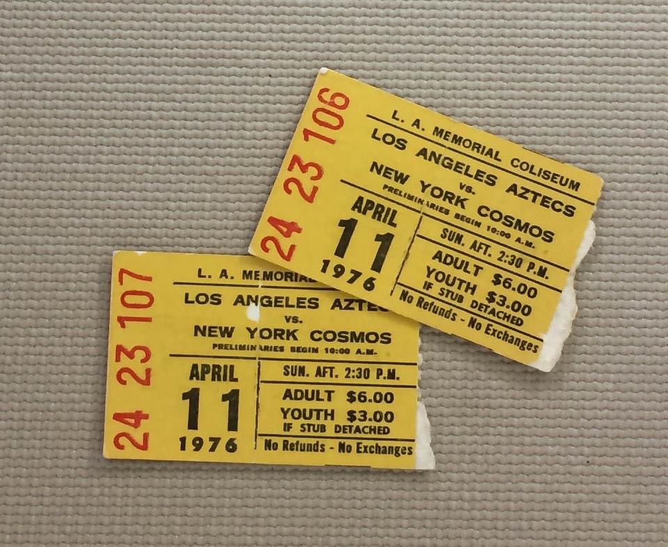 Los Angeles Aztecs Cosmos 1976 Tickets