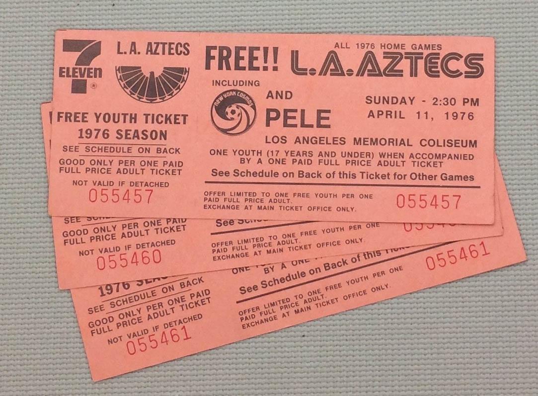 Los Angeles Aztecs 1976 Tickets