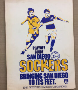 Sockers Teamen 1981 Playoff Program