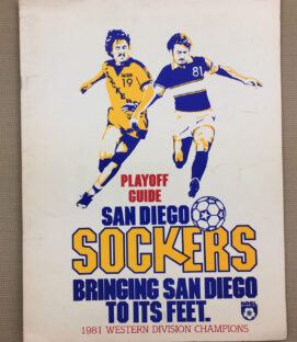 Sockers Timbers 1981 Playoff Program