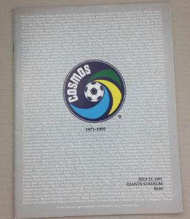 New York Cosmos 1991 Reunion Game Program