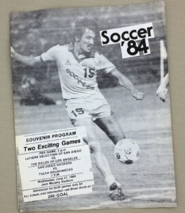 San Diego Sockers Doubleheader Scorecard