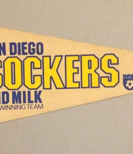 San Diego Sockers Leonardo Cuellar Pennant