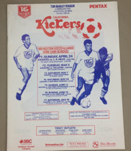 California Kickers 1988 WSA Yearbook