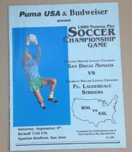 1989 WSL-ASL Championship Game Program