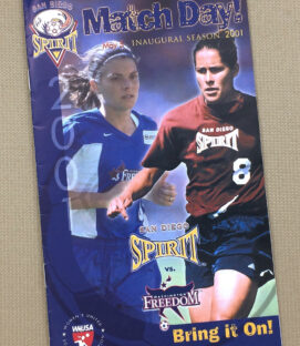 WUSA San Diego Spirit 2001 Program
