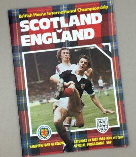 Scotland England British Home International Tournament Program