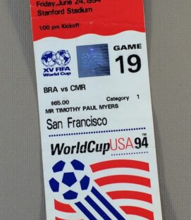 World Cup '94 Brazil vs Cameroon Ticket Stub