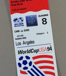 World Cup '94 Cameroon vs Sweden Ticket Stub