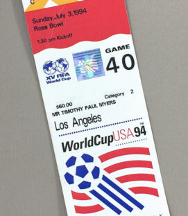 World Cup '94 Game 40 Ticket Stub