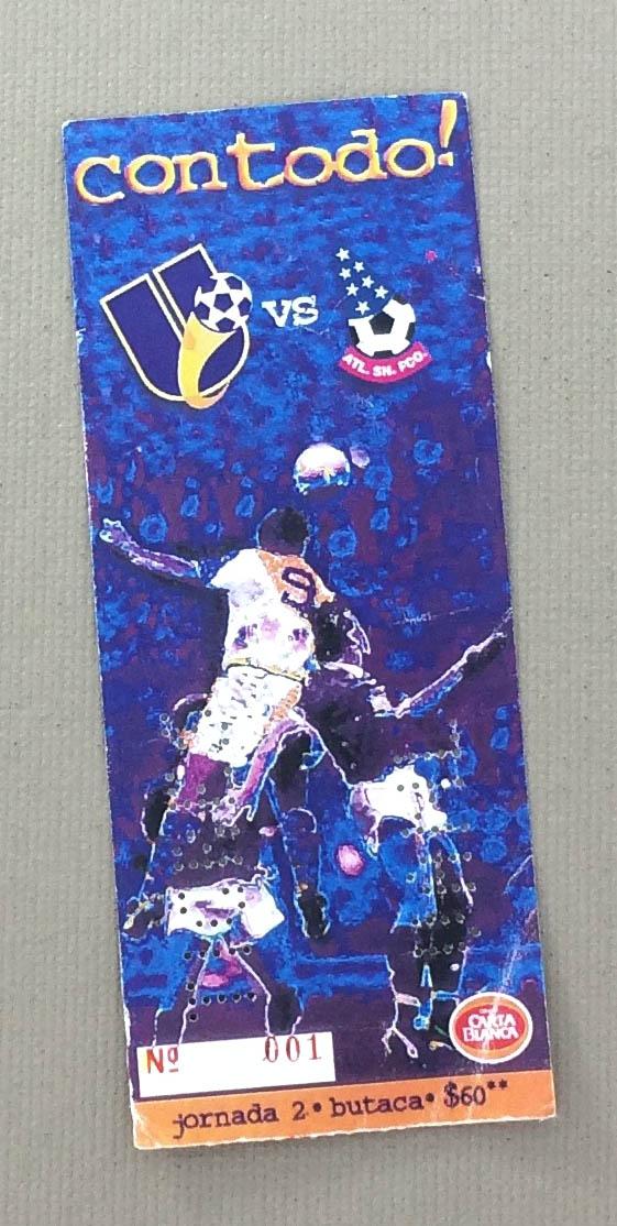 Monterrey Tigres 1996 Ticket