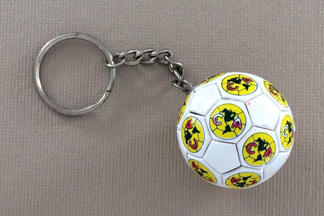Club America Soccer Ball Keychain